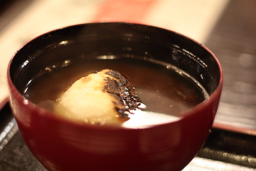 Red bean soup with rice cake eaten in Kyoto