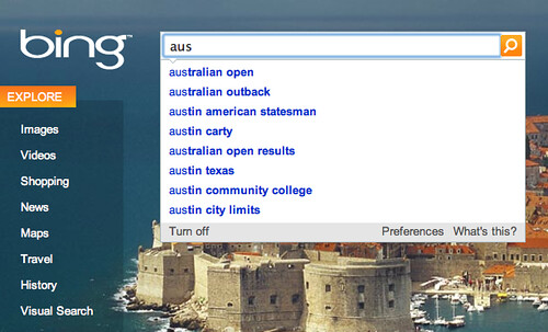 Bing Auto Suggest