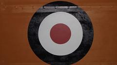 Royal NZ Air Force Museum (tarmo888) Tags: newzealand christchurch aviation round target bullseye circular canonpowershot oceania browncolor puhkus vacationtravel wigram photoimage sooc pruun geosetter year2009 sx1is geotaggedphoto osm:node=282791860 foto