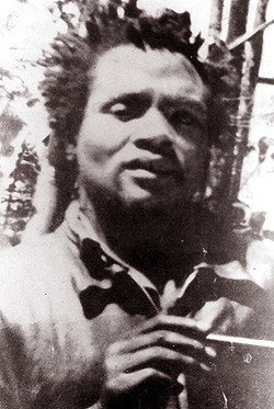 A rare photograph of the Field Marshal of the Kenyan Land and Freedom Army, Dedan Kimathi, taken during the uprising during the 1950s. Kimathi was executed by the British in 1957. KLFA veterans are seeking reparations from the British government. by Pan-African News Wire File Photos