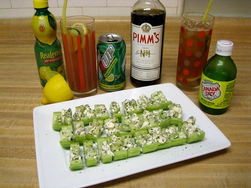 New Orleans Style Pimm's Cups & Cucumber Tapas