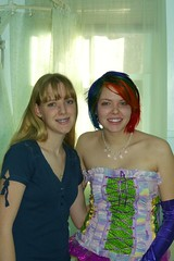 Me and my sister Katelynn (Megan is me...) Tags: blue wedding red orange green me apple colors up fashion rose by hair print ruffles photography one design diy clothing amazing mixed rainbow ribbons colorful neon colours russell hand dress candy bright little lace turquoise unique awesome meg violet plum megan clothes kind made flame pony fabric leopard iguana corset jerome mandarin colored sheet bodice 100 dye limelight mayhem punky dyed napalm specialeffects sfx rosered megface bluehairedfreak meganisme meganyourface rainboweyelets