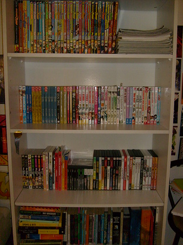 Well Heres My Bookshelf Not Really Much To It Top Shelf Shonen Jumps Various Anime Magazines 1 Artbook Brother Decided The Other Day Give Me