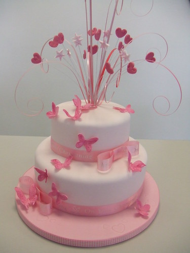 Birthday Cakes Gallery Pink Butterfly Cake