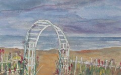 Welcome Spring (1022 Sea Shell Ave) Tags: art beach acrylic fineart nautical watercolorartprints
