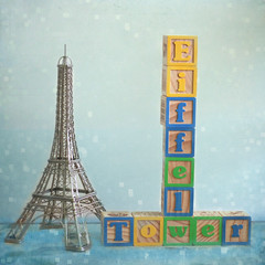 36/365 | E is for Eiffel Tower (daisy plus three) Tags: texture 50mm eiffeltower squarecrop project365 childrensblocks alphabetseries bylesbrumes 2010yip lyricsbycharlottegainsbourg