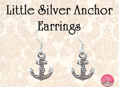 Little Silver Anchor Earrings