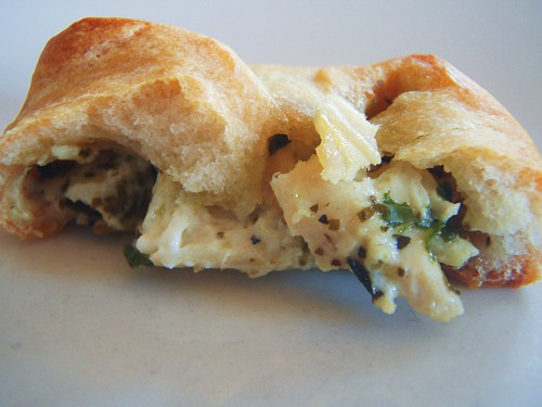 pesto chicken appetizer with crescent rolls (super bowl) - 17