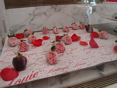 Chocolate Covered Strawberries @ Bottega Louie