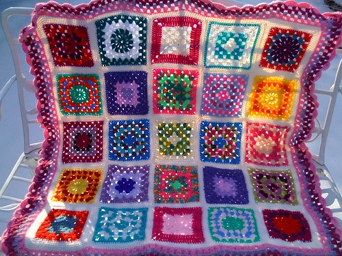 Ta - Dah! 'Sunshine Blanket no.2' outside in the Snow.