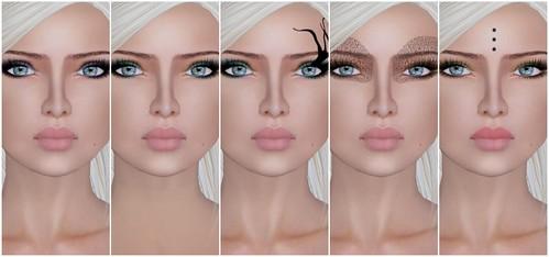 """LeLutka Face """"tats"""" makeup"""
