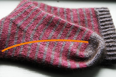 Striped Sock Color Changes Path