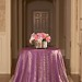 Gold violet Crush tablecloth