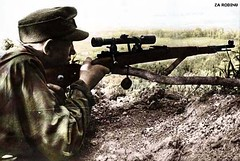 German sniper - ww2 (Za Rodinu) Tags: world 2 man men history vintage soldier war gun russia military rifle rifles front german weapon ww2 soldiers historical guns 1942 1945 rare troops 1944 1943