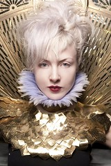 Costume for the Bowie Ball (Anna Fischer) Tags: portrait woman girl fashion vintage costume model retro blond period traje kostm  puku