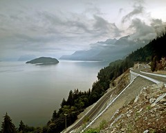 Sea to Sky Highway (Christopher J. Morley) Tags: road mountain vancouver clouds whistler island bc view howesound squamish seatosky lionsbay oldhighway newhighway
