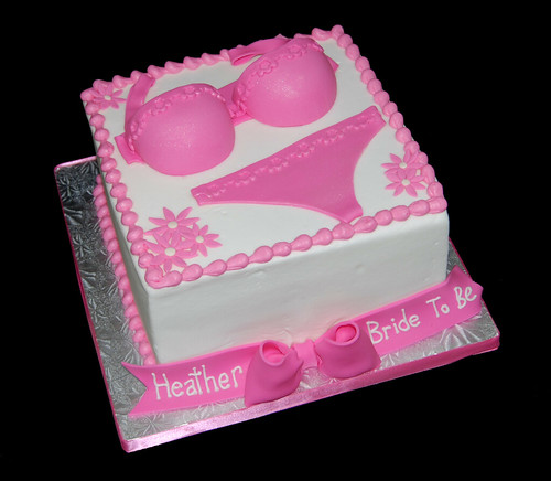 Pink Lingerie Bridal Shower Cake