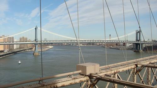 Il Manhattan Bridge da quello di Brooklyn