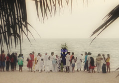 (curuminha) Tags: africa brazil beach fog brasil gold dawn golden dance worship religion february fevereiro creamy candomble culturapopular sincretismo iemanja syncretism yemanja polularculture