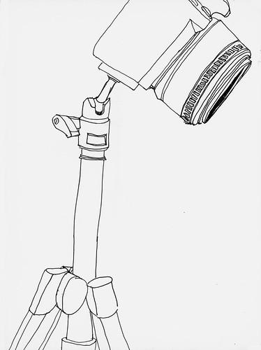 Nikon D60 on tripod
