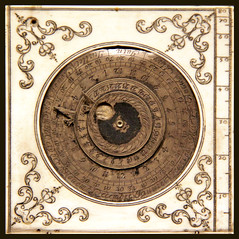 Part of sundial, by Charles Bloud, late 17c (Kotomi_) Tags: trip travel holiday inspiration paris france museum industrial technology crafts arts dial science sundial material period hisotrical museedesartetmetiers