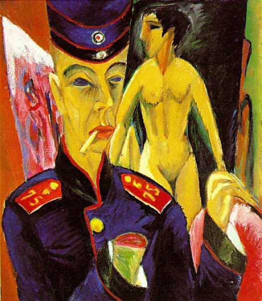 Ernst Ludwig Kirchner, Self-Portrait as a Soldier, 1915