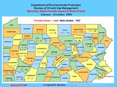 PA Permits Issued & Wells Drilled 2009