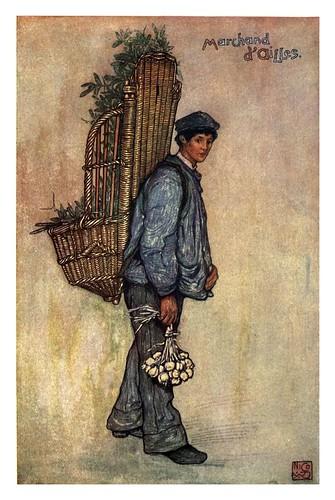 009-Un vendedor callejero en Falaise baja Normandia-Normandy-1905- Ilustrado por Nico Jugman