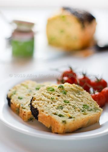 Cake allo zafferano e verdure di primavera