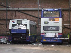 1237 and 3119 in store (MCW1987) Tags: street travel west reserve miller mk2 xs fleet scrap lynx leyland midlands withdrawn metrobus twm mcw stored 3119 1237 mk2a g237eog g119fjw