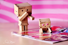 Naughty Danbo is growing up :P (SaRa Meow  .. / @sosoMeow) Tags: family pink light red summer hot cute love girl kids naughty toy women heart boobs mother romance magazines growingup danbo canon50mm danboard sarameow
