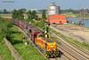 EH 546 ( G 1206 Vossloh ) (vsoe) Tags: eh germany deutschland hafen duisburg rhein ruhrgebiet hkm ruhrpott rheinhausen güterzug rheinbrücke vossloh falns g1206 eisenbahnhäfen sandzug wannheim