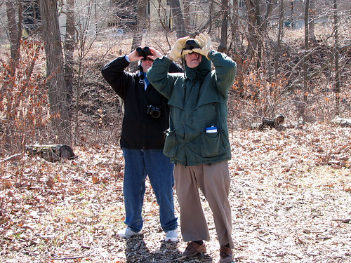 Mom & Dad birding