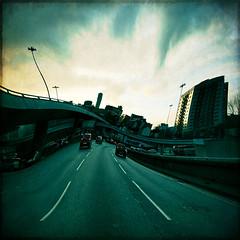 rubber soul (fotobananas) Tags: road bridge distortion texture liverpool pen traffic olympus rubber soul ep1 rubbersoul skeletalmess fotobananas