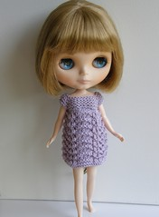 Lilac Feather and Fan Dress