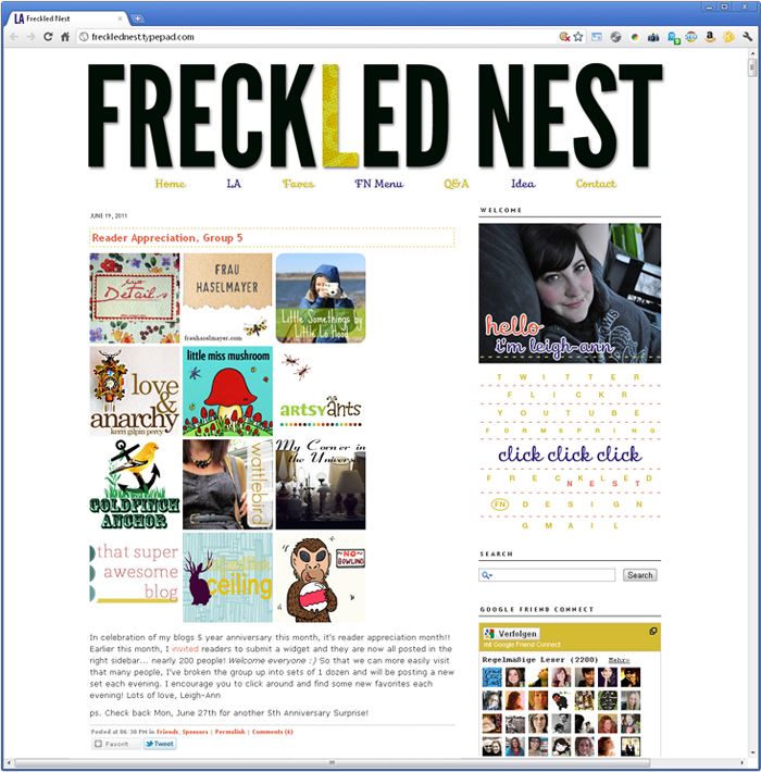 Frau Haselmayer on Freckled Nest
