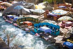 Al Fresco (Cathy G) Tags: africa holiday canon river cafe picnic northafrica atlasmountains morocco marrakech marrakesh alfresco canon28135mm highatlasmountains ourikavalley canon40d
