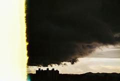 .the tear that sparked the flood. (Camila Guerreiro) Tags: film expiredfilm kodak pentaxmesuper são paulo brazil camilaguerreiro kodakgold200 expired sky rain sunset analog grain