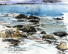 Presqu'ile de Rhuys, beach with rocks