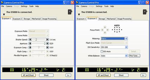 Nikon D5000 and Camera Control Pro