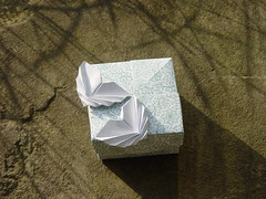 "Quadratische Schachtel ""Butterfly"" von Tomoko Fuse (Tagfalter) Tags: origami box tomokofuse"