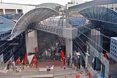 Kyoto Station (1997) (origamidon) Tags: japan architecture kyoto escalator futurism  1997 kyotojapan kyotostation steelframe hiroshihara plateglass kyotoprefecture kyotoshi 1200thanniversary origamidon donshall irregularcubicfacade plateglassoverasteelframe