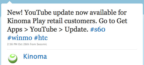 Twitter / Kinoma: New! YouTube update now av ...