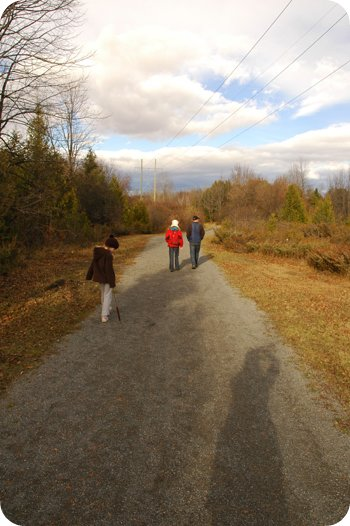on the trail to the old Nepean Quarry in Barrhaven