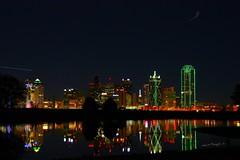 Hello Daylight Savings (jhdrought) Tags: longexposure nightphotography reflection water bulb canon eos interesting downtown texas dal dfw ghostbar westend bulbexposure thew eosdigital dallastx dallascounty dallasskyline canonxsi nightowlishouldbeasleep