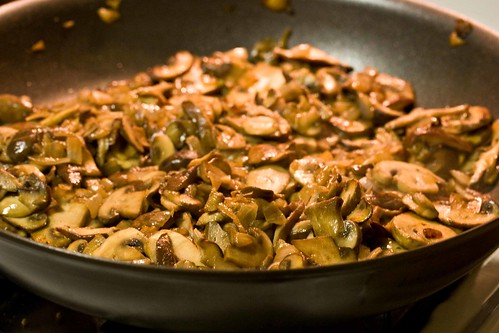 sherry glazed sauteed mushrooms