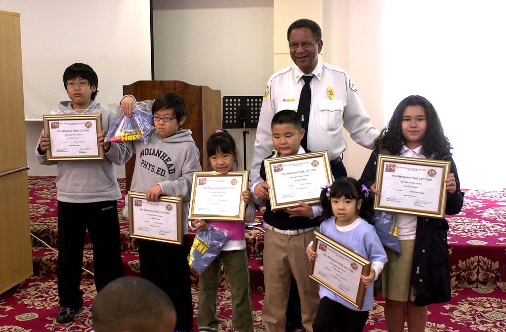 Students awarded for the best fire safety posters