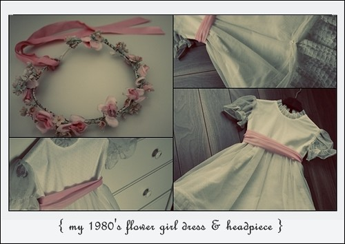 80's flower girl dress