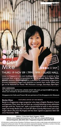 OOOM (Originals Only Open Mike) 19 Nov 09