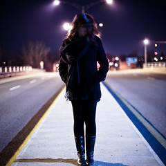 sandryne (Thierry Lord) Tags: november blue shadow blur cold fall field lines night canon eos 50mm lights purple post bokeh mark small cement fluorescent ii l 5d tungsten rim tones laval depth lam f12